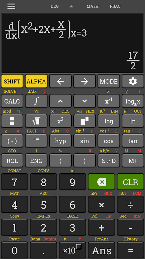School Scientific calculator casio fx 570 es plus Screenshot 2