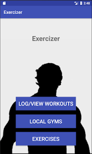 Exercizer Fitness app screenshot for Android