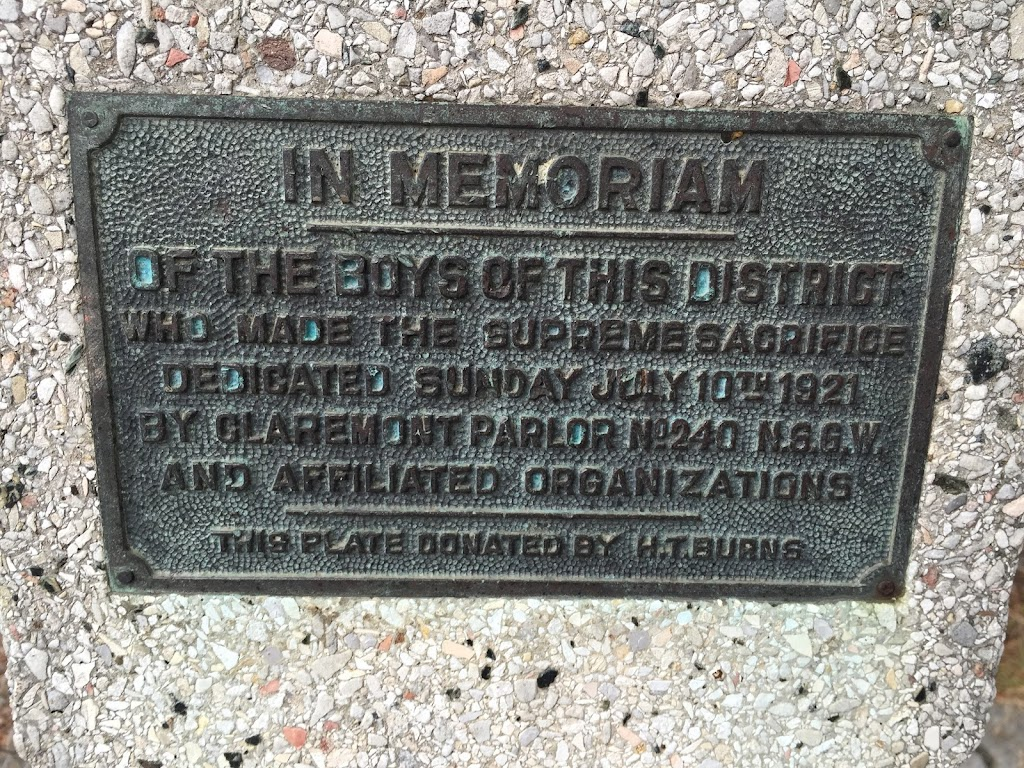 A tiny monument tucked into the corner of North Oakland. The school it is located on built their perimeter fence around it. Full monument