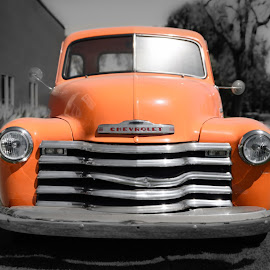 Orange Crush by Givanni Mikel - Transportation Automobiles ( orange, pickup, chevrolet, truck, chevy,  )