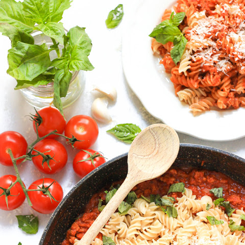 Turkey Bolognese with Gluten-free Fusilli
