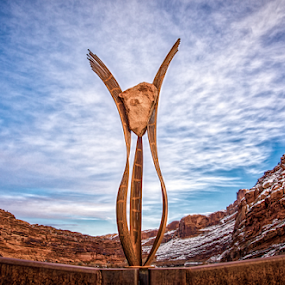 by Steve Outing - Artistic Objects Other Objects ( clouds, moab, civic art, cliffs )