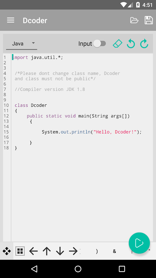 Dcoder, Mobile Compiler IDE Screenshot 4
