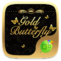 Gold Butterfly Keyboard Theme APK for Lenovo