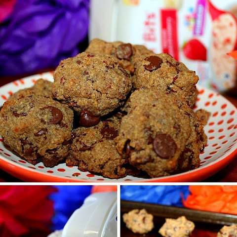 Mini Chocolate Strawberry Banana Oatmeal Cookies