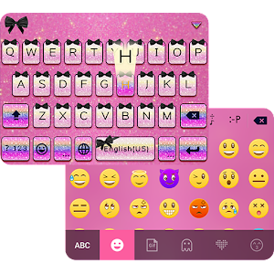 Pink Glitter Themefor Keyboard