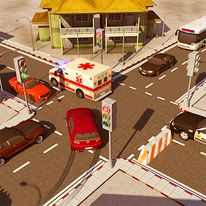 City Traffic Control Simulator: Intersection Lanes Icon