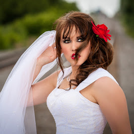 A bride in distress..... by Paul Brown Jr. - Wedding Bride
