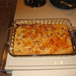Spam and Cheese Casserole