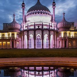 Royal Pavilion, Brighton by Usman Ijaz - Buildings & Architecture Architectural Detail ( clouds, landmark, brighton, reflection, royal pavilion, long exposure, architecture, historical )