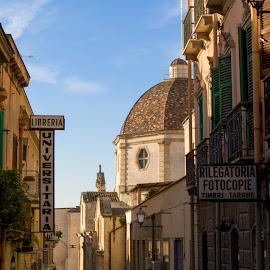 Street Scene in Cagliari, Italy by Judy White - Buildings & Architecture Other Exteriors ( cagliari, cathedrals, streets, travel, landscapes, italy )