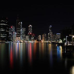 Candy Coloured Water by Ty Hanson - City,  Street & Park  Skylines ( ty, australia, brisbane, photography, city )