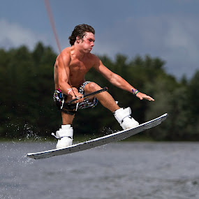 by Jeannette Thalmann-Bendeth - Sports & Fitness Watersports ( sws, flight, wakeboard, sparrow lake, canada, sports, lake,  )