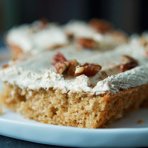 Spiced Applesauce Sheet Cake with Divinity Frosting