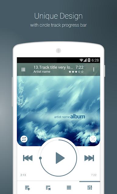 NRGplayer music player screenshots