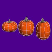 Halloween Pumpkins - 2 texture versions