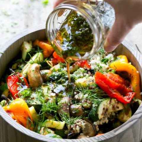Grilled Vegetable Quinoa Salad With Balsamic Dressing