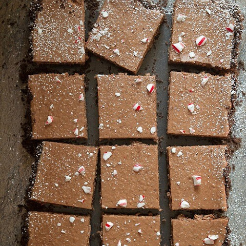 Chocolate Peppermint Pie Bars