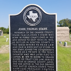 Patriarch of the Orange County Stark family, John T. Stark was born in Pebble  County, Ohio, in 1821 and moved to East Texas in 1840. He settled in Newton County in the 1850s where he read law and ...