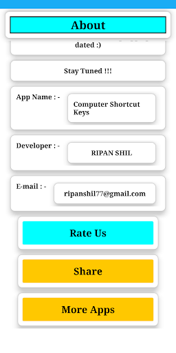 Computer Shortcut Key screenshot 4