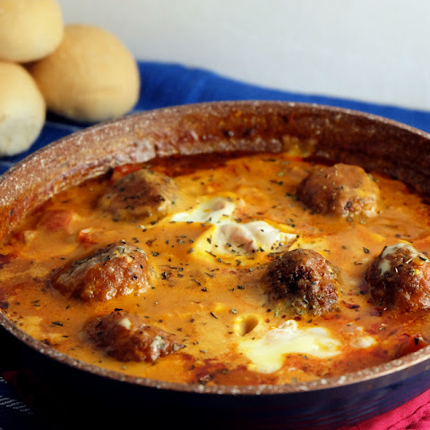 Eggs in Purgatory with Meatballs