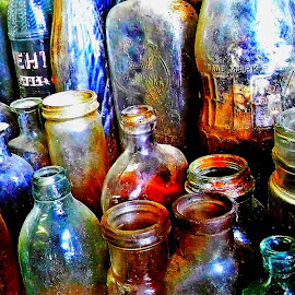 bottle collection by Martin Stepalavich - Artistic Objects Glass