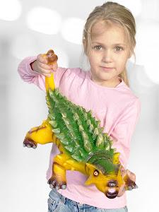 "Игрушка-фигурка серии ""Город Игр"", динозавр анкилозавр XXL, со звуком"