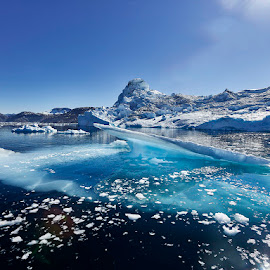 Arctic Caribbean 2 by Fokion Zissiadis - Landscapes Caves & Formations ( glacier, iceberg, ice, greenland, arctic, fjord )