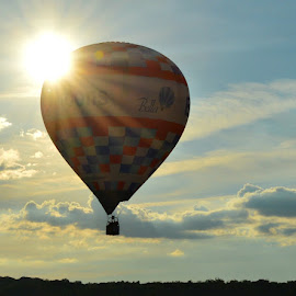 by Becky Holmes - Transportation Other ( hot air balloon, sunlight, balloons, balloon, skyscape )
