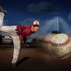 For the love of Baseball by Tiffiny Dillow - Digital Art People ( baseball, sports, senior portraits, pitching, senior )