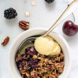 Cherry Blackberry Crisp