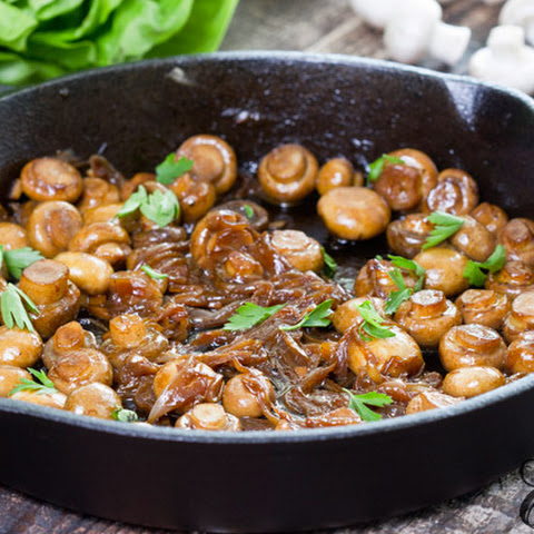Sauteed Mushrooms with Caramelized Onion