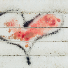 Heart graffiti on wall by Denny Gruner - Digital Art Things ( concept, exterior, street, valentine, romance, drawing, draw, love, happy, graffiti, dirty, grey, ideas, structure, painted, heart, creative, symbol, texture, art, white, romantic, paint, shape, concrete, red, color, feeling, background, scene, lines, day, brush, design, wall )