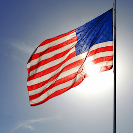 USA by Tom Vogt - Public Holidays July 4th ( flag, sun,  )