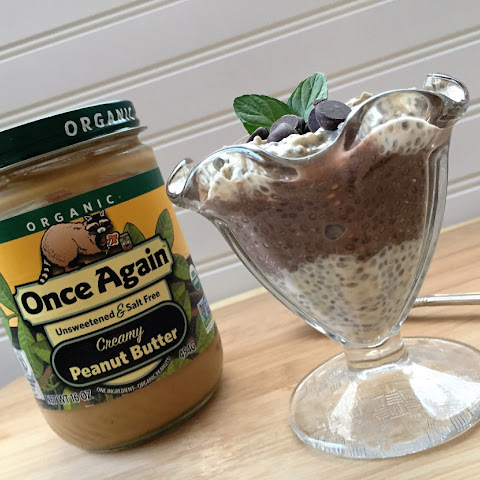 Chocolate and Peanut Butter Chia Pudding