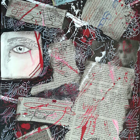woman by Shima Jafarzadeh - Mixed Media All Mixed Media ( shima jafarzadeh, calligraphy, collage, acryl, photo )