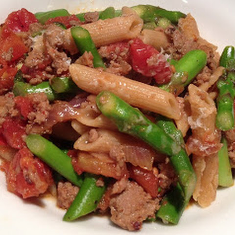 Turkey Sausage and Asparagus Pasta