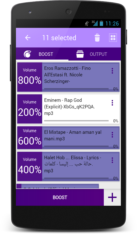 MP3 VOLUME BOOST GAIN LOUD PRO Screenshot 1