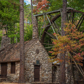 Grist Mill at Berry College by Pam Wendel - Buildings & Architecture Public & Historical