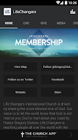 Screenshot of Life Changers Church App