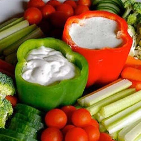 ... dip ranch style vegetable dip veggies cheese with ranch crunchy
