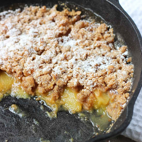 Spiced Peach Crisp with Crumb Topping