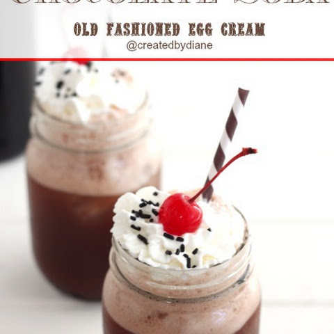 Old Fashioned Egg Cream-Chocolate Soda