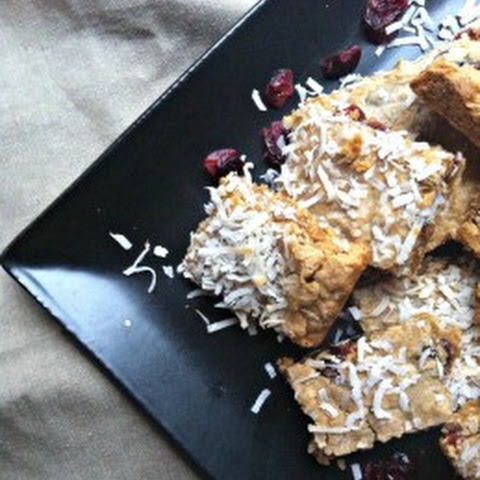 Chewy Coconut Cranberry Granola Bars