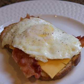 Overeasy Egg and Bacon Sandwiches