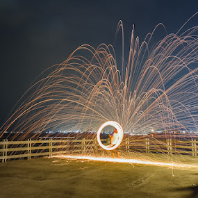 fire trail... by Bop Aurelio - Abstract Light Painting