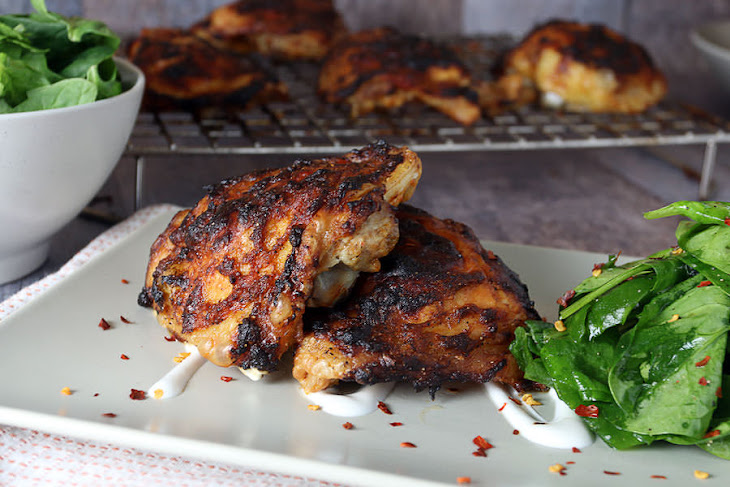 "Oven ""Grilled"" Asian Chicken Thighs Recipe 