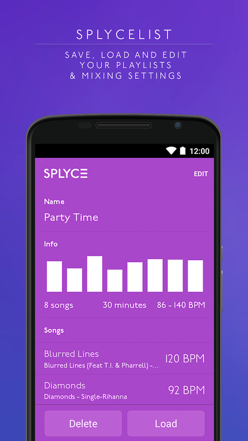 Splyce music player & automix Screenshot 4