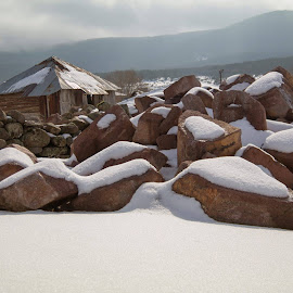 ... by Hale Yeşiloğlu - Landscapes Travel ( winter, cold, village, snow, white )