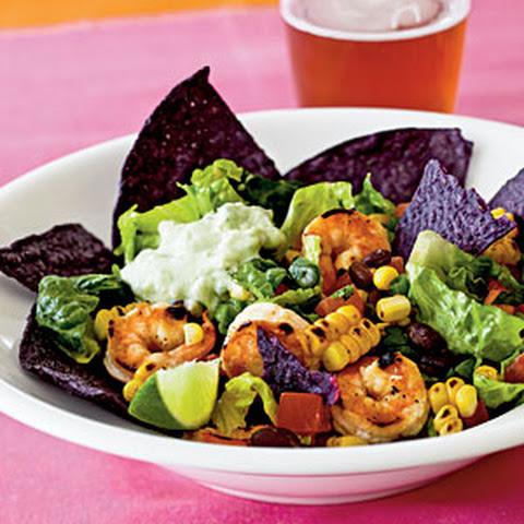 Southwestern-Style Shrimp Taco Salad Recept | Yummly